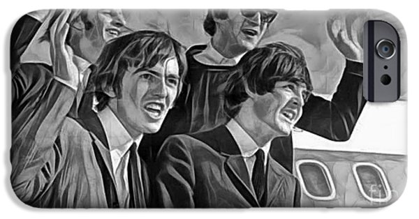 Beatles iPhone Cases - The Beatles Collection iPhone Case by Marvin Blaine
