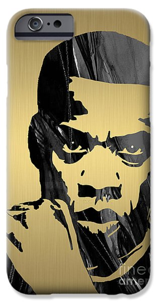 Jay Z iPhone Cases - Jay Z Collection iPhone Case by Marvin Blaine