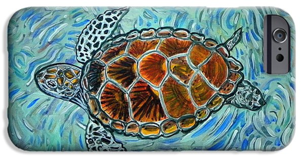 Animal Photograph Mixed Media iPhone Cases - Sea Turtle print iPhone Case by W Gilroy