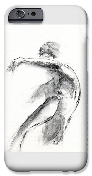 Figure Mixed Media iPhone Cases - RCNpaintings.com iPhone Case by Chris N Rohrbach