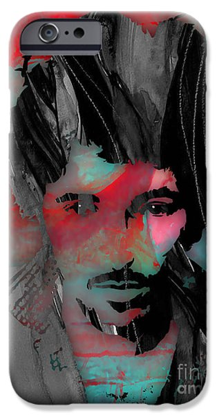 Bear iPhone Cases - Bruce Springsteen Collection iPhone Case by Marvin Blaine