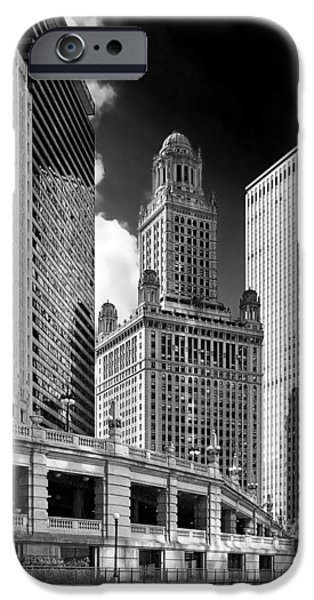 Stratosphere iPhone Cases - 35 East Wacker Chicago - Jewelers Building iPhone Case by Christine Till