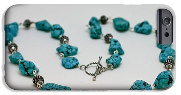 Handmade Jewelry Jewelry iPhone Cases - 3599 Turquoise Necklace iPhone Case by Teresa Mucha