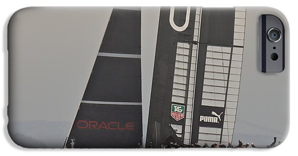 Sausalito iPhone Cases - Americas Cup Oracle iPhone Case by Steven Lapkin
