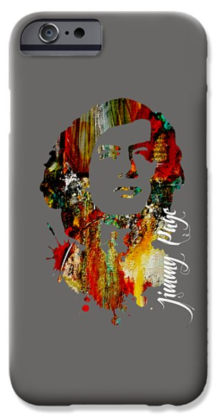 Page iPhone Cases - Jimmy Page Collection iPhone Case by Marvin Blaine
