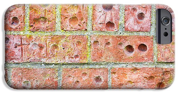Disorder iPhone Cases - Brick wall iPhone Case by Tom Gowanlock