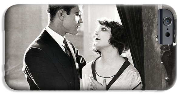 Couple iPhone Cases - Silent Film Still: Couples iPhone Case by Granger