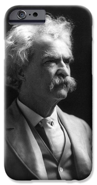 SAMUEL LANGHORNE CLEMENS iPhone Case by Granger