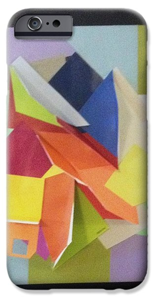 Abstract Reliefs iPhone Cases - 3D art on Black iPhone Case by Paul Meinerth
