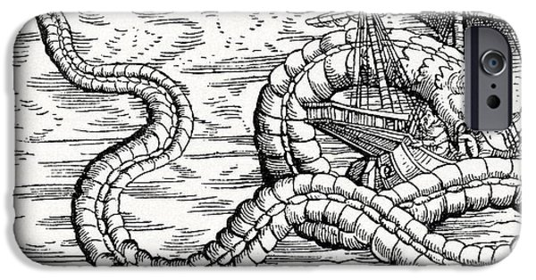 Serpent iPhone Cases - 16th Century German Woodcut Print iPhone Case by Cci Archives