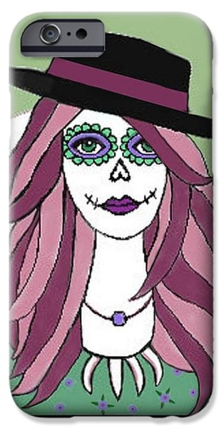 Self-portrait Mixed Media iPhone Cases - 4/22/15 iPhone Case by Sandra Castaneda