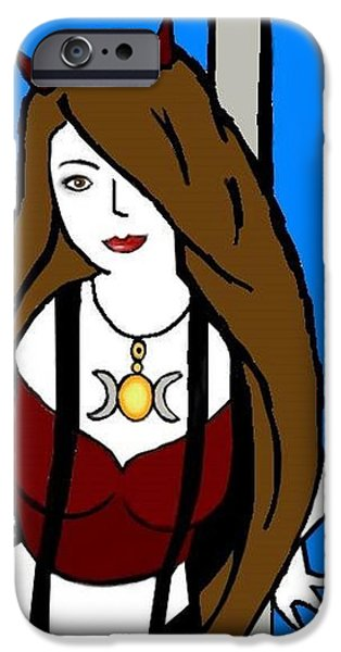 Self-portrait Mixed Media iPhone Cases - 4-26-14 iPhone Case by Sandra Castaneda