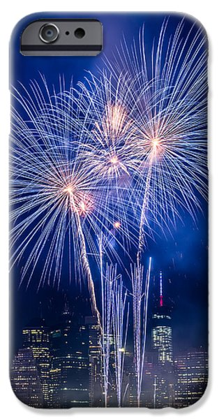 Empire State iPhone Cases - 4th of July iPhone Case by Ovidiu Rimboaca