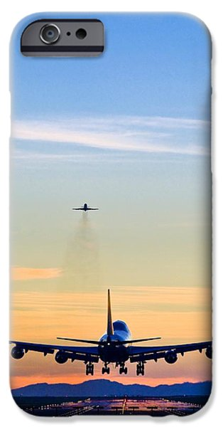 Boeing 747 iPhone Cases - Aeroplane Landing, Canada iPhone Case by David Nunuk