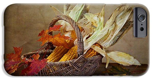 Basket iPhone Cases - Autumn iPhone Case by Nailia Schwarz
