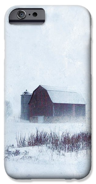 Recently Sold -  - Wintertime iPhone Cases - Barn in Winter iPhone Case by Jill Battaglia