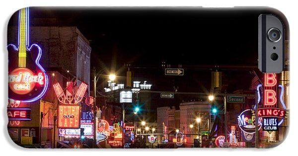 Built Structure iPhone Cases - Beale Street in Downtown Memphis Tennessee iPhone Case by Anthony Totah
