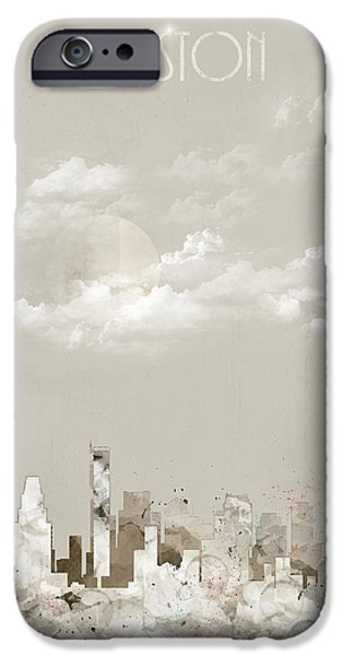 City. Boston iPhone Cases - Boston City Massachusetts iPhone Case by Bri Buckley