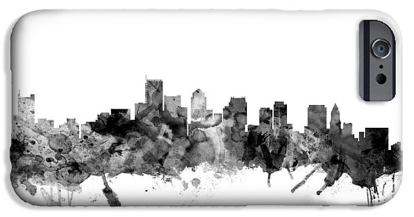 City. Boston iPhone Cases - Boston Massachusetts Skyline iPhone Case by Michael Tompsett