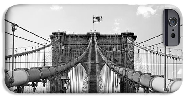 River iPhone Cases - Brooklyn Bridge in New York City iPhone Case by ELITE IMAGE photography By Chad McDermott