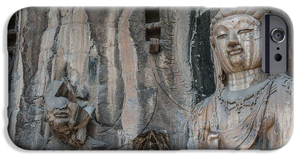Asian Sculptures iPhone Cases - Buddha iPhone Case by FL collection