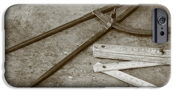 Work Tool iPhone Cases - Carpentry tools iPhone Case by Gaspar Avila