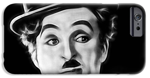 Charlie Chaplin iPhone Cases - Charlie Chaplin Collection iPhone Case by Marvin Blaine