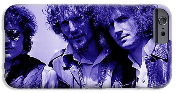 Jack iPhone Cases - Cream Eric Clapton Jack Bruce Ginger Baker iPhone Case by Marvin Blaine