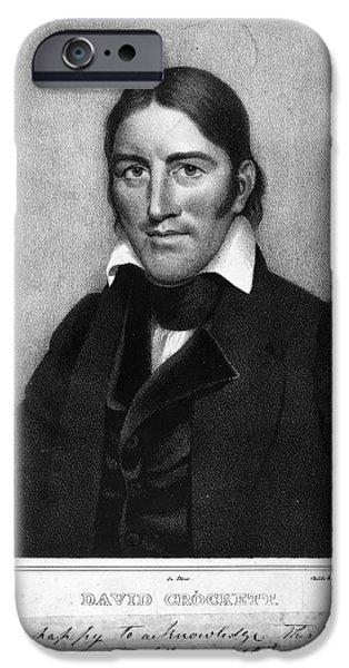 DAVY CROCKETT (1786-1836) iPhone Case by Granger