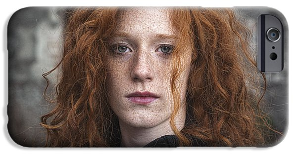 Red-haired Women iPhone Cases - Des poussieres de toi iPhone Case by Traven Milovich