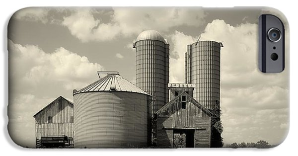 Illinois Barns iPhone Cases - Down On The Farm iPhone Case by Mountain Dreams