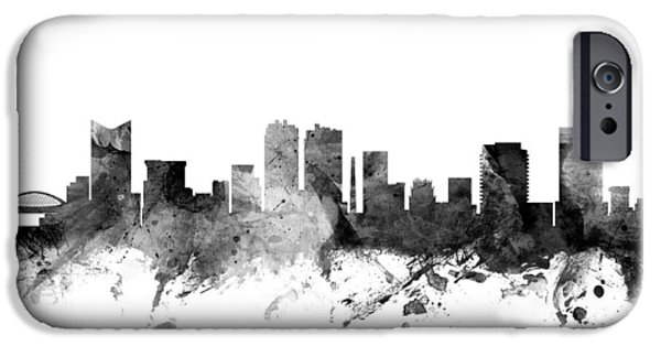 Texas Digital iPhone Cases - Fort Worth Texas Skyline iPhone Case by Michael Tompsett