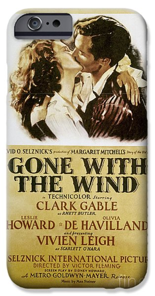 Margaret iPhone Cases - Gone With The Wind, 1939 iPhone Case by Granger