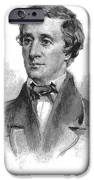 Thoreau iPhone Cases - Henry David Thoreau iPhone Case by Granger