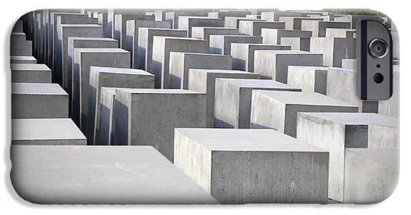 Torn iPhone Cases - Holocaust Memorial Berlin iPhone Case by Marc Hob