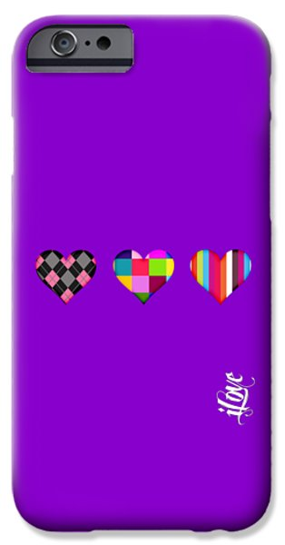 Kiss iPhone Cases - iLove Collection iPhone Case by Marvin Blaine