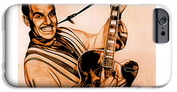 Johnny iPhone Cases - Johnny Otis Collection iPhone Case by Marvin Blaine