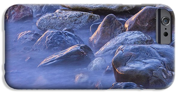 Ocean Sunset iPhone Cases - Long Exposure of Colorful Ocean waves at Sunset. iPhone Case by Keith Webber Jr