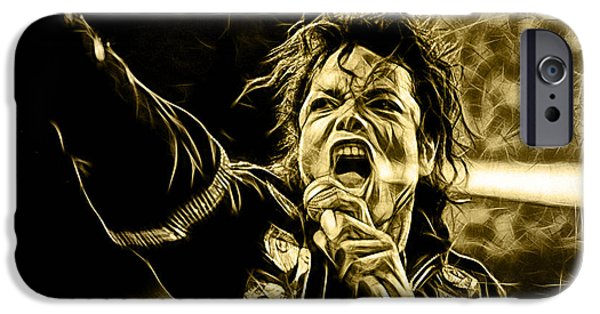 Michael Mixed Media iPhone Cases - Michael Jackson Collection iPhone Case by Marvin Blaine