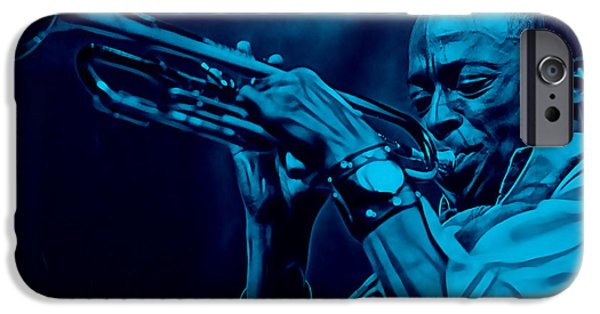 Miles Davis iPhone Cases - Miles Davis Collection iPhone Case by Marvin Blaine