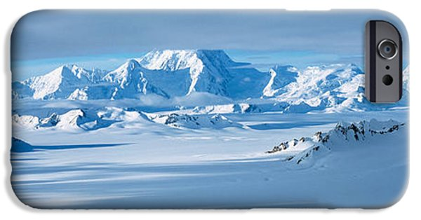 Mountain iPhone Cases - Mountains And Glaciers In Wrangell-st iPhone Case by Panoramic Images