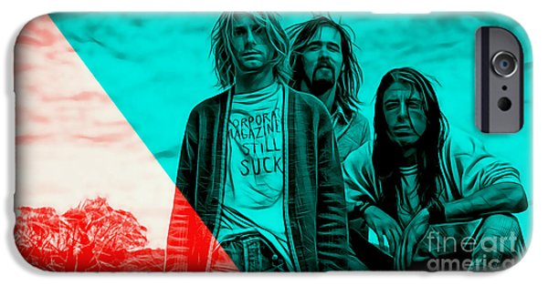 Singer iPhone Cases - Nirvana Collection iPhone Case by Marvin Blaine