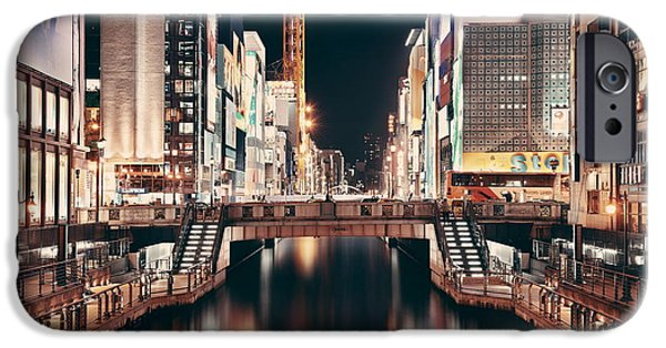 Business iPhone Cases - Osaka street iPhone Case by Songquan Deng