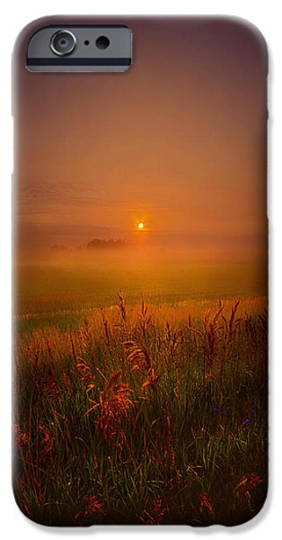 Fog Mist Photographs iPhone Cases - Peace Of Mind iPhone Case by Phil Koch