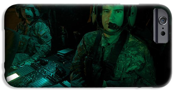 Night Angel iPhone Cases - Pilots Sitting In The Cockpit iPhone Case by Terry Moore