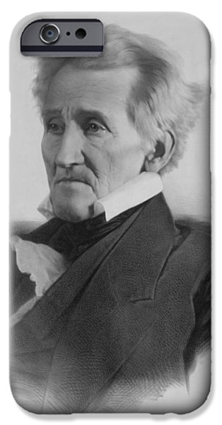 President iPhone Cases - President Andrew Jackson iPhone Case by War Is Hell Store