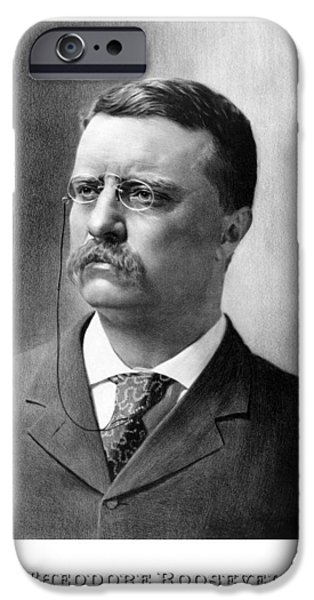 War iPhone Cases - President Theodore Roosevelt iPhone Case by War Is Hell Store