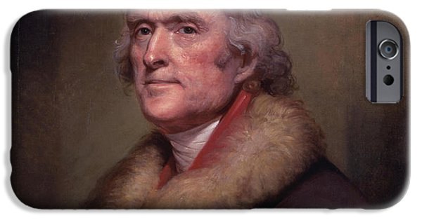 4th July iPhone Cases - President Thomas Jefferson iPhone Case by War Is Hell Store