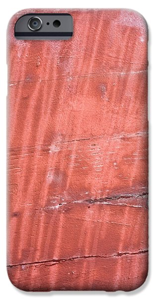 Metallic Sheets iPhone Cases - Red metal iPhone Case by Tom Gowanlock