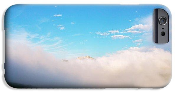Fog Mist iPhone Cases - Refugio de Belagua iPhone Case by Tilyo Rusev